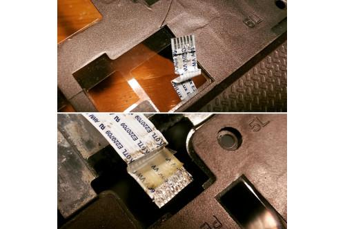 Переломанные шлейфы в ноутбуке, который попал в неумелые руки!