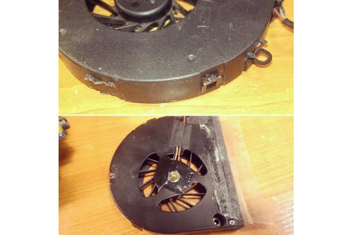 Вот с такими вентиляторами к нам приходят ноутбуки в ремонт!