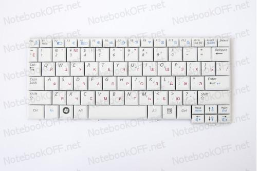 Клавиатура для ноутбука Samsung NC10, N127, N130, N140. Белая фото №1