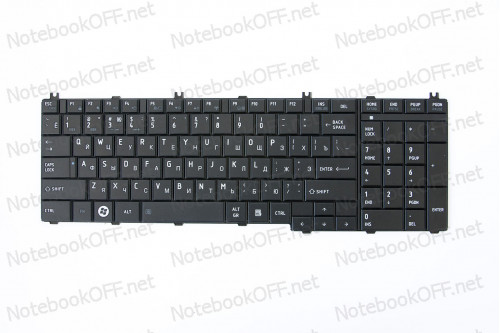 Клавиатура для ноутбука Toshiba Satellite C650, L650, L670 Черная фото №1
