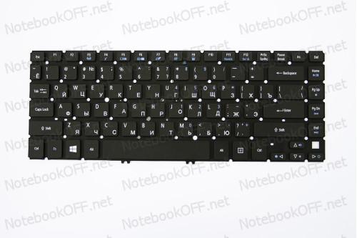Клавиатура для ноутбука Acer Aspire M3-481, M5-481, V5-431, V5-471 (black, без фрейма, подсветка) фото №1