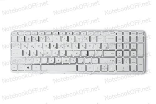 Клавиатура для ноутбука HP Pavilion 15-E, 15T-E, 15Z-E 15-N, 15T-N, 15Z-N series (white frame) фото №1