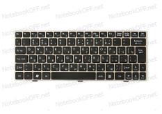 Клавиатура для ноутбука MSI U135, U160 (Silver frame)