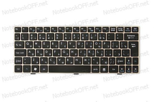 Клавиатура для ноутбука MSI U135, U160 (Silver frame) фото №1