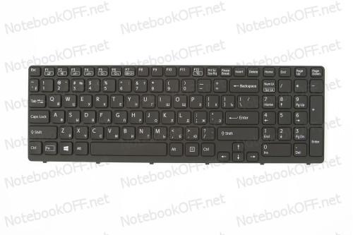 Клавиатура для ноутбука Sony E15, E17, SVE15, SVE17 (black frame, подсветка) фото №1