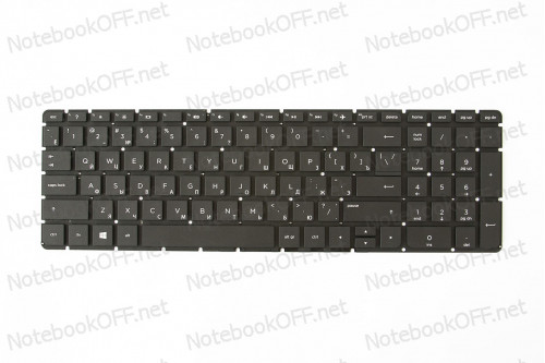 Клавиатура для ноутбука HP Pavilion 15-ac,15-af, 15-ba, 17-ac, 17-x, 17-y, HP 250 G4, 255 G4, 250 G5, 255 G5, 15-b 813974-251, 856698-251 (black, без фрейма) фото №1
