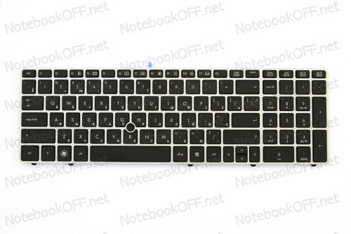 Клавиатура для ноутбука HP EliteBook 8560p (silver frame)