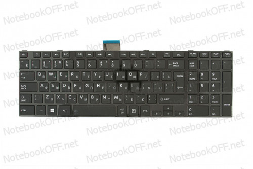 Клавиатура для ноутбука Toshiba Satellite C850, C870 (black frame) фото №1