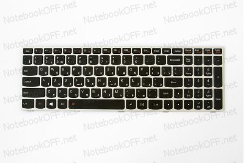 Клавиатура для ноутбука Lenovo G50-30, G50-70, Z50-70, Flex 2-15 (silver frame, подсветка) фото №1