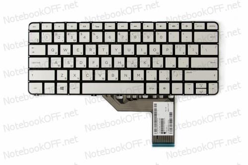 Клавиатура для ноутбука HP Spectre x360 13-4000, 13-4100, 13-4200 (silver, без фрейма) 806500-251 фото №1