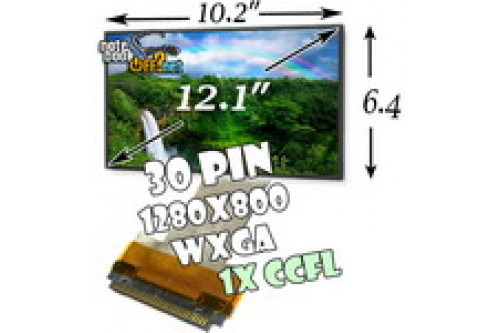 "Матрица 12.1"" WXGA (1280x800, 20 pin, 1 лампа CCFL) матовая фото №1"