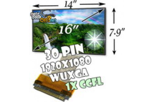 "Матрица 16.0"" WUXGA (1920x1080, 30pin, 1 лампа CCFL) глянцевая фото №1"