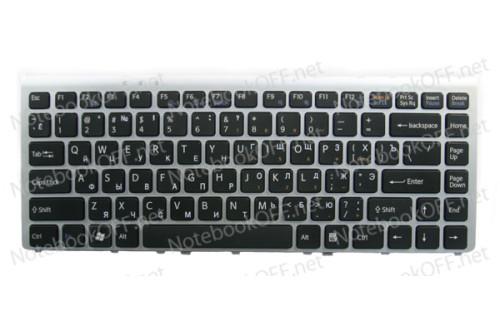 Клавиатура для ноутбука Sony VGN-FW Series (Silver frame) фото №1