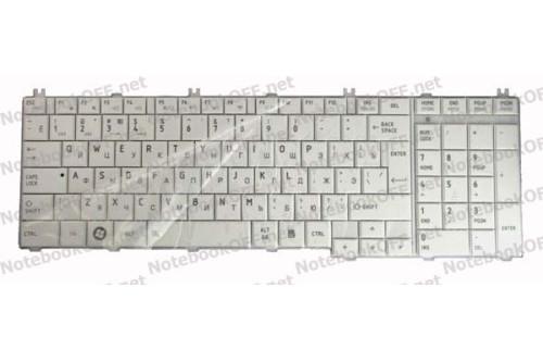Клавиатура для ноутбука Toshiba Satellite C650, L650, L670. Белая фото №1