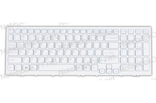Клавиатура для ноутбука Sony VPC-EH, VPCEH Series (white frame) фото №1