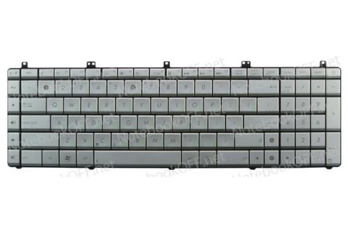 Клавиатура для ноутбука Asus N55, N75 Series Silver (ver. N75) фото №1
