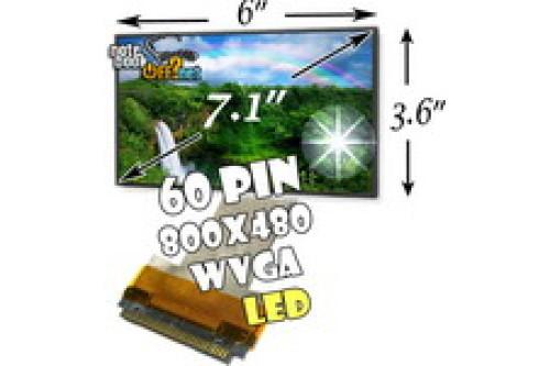 "Матрица 7/7,1"" WVGA (800x480, 60 pin, LED-подсветка) глянцевая фото №1"