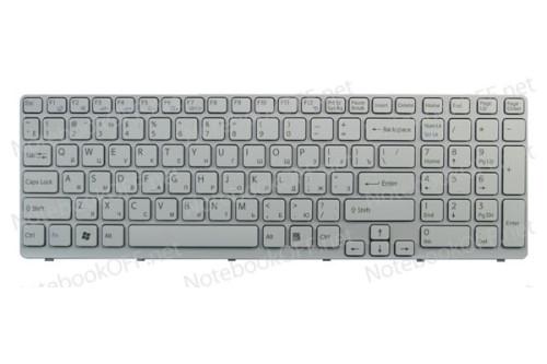 Клавиатура для ноутбука Sony E15, E17, SVE15, SVE17 (white frame) фото №1