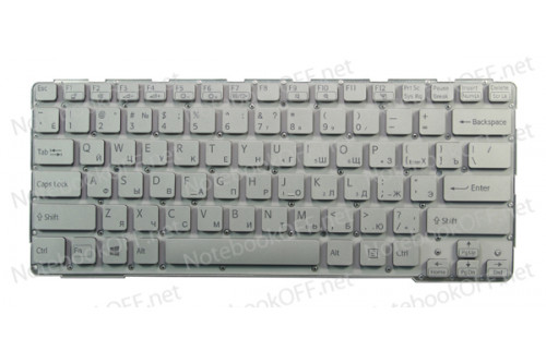 Клавиатура для ноутбука Sony SVE14 Series (white, без фрейма) фото №1