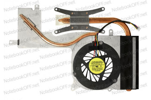Термомодуль (с кулером DFS531205PC0T) для ноутбука Asus F6V фото №1