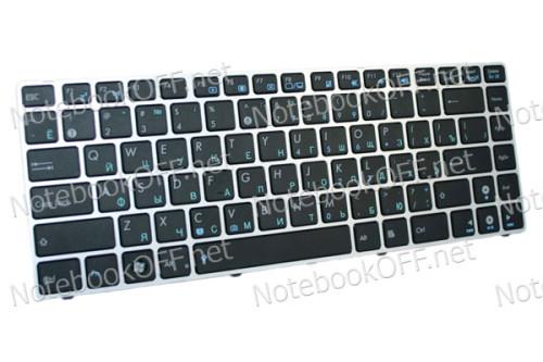 Клавиатура для ноутбука Asus A42, K42, UL30, UL31, U41 (silver) фото №1