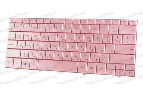 Клавиатура для ноутбука HP Compaq Mini 102, 110c, 110-1000, 110c-1000, CQ10-100 Pink фото №1