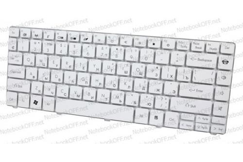 Клавиатура для нoутбука Packard Bell EasyNote NM85, NM87. Белая фото №1