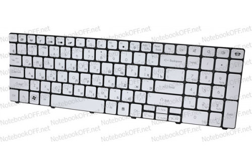 Клавиатура для нoутбука Packard Bell LM81, LM85, LM86, LM87 Silver