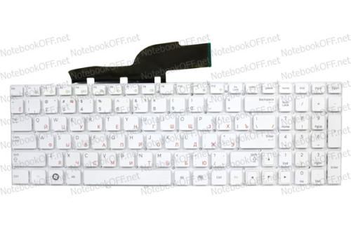 Клавиатура для ноутбука Samsung NP300E5A, NP300V5A белая (без фрейма) фото №1
