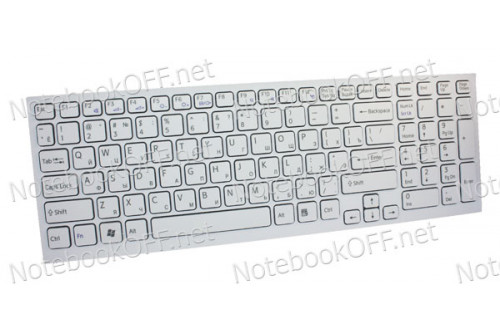 Клавиатура для ноутбука Sony VPC-EB, VPCEB Series (white frame) фото №1