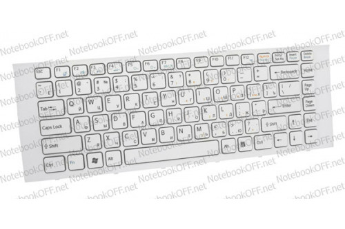 Клавиатура для ноутбука Sony VPC-EG, VPCEG Series (white frame) фото №1