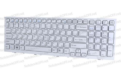 Клавиатура для ноутбука Sony VPC-EL, VPCEL Series (white frame) фото №1