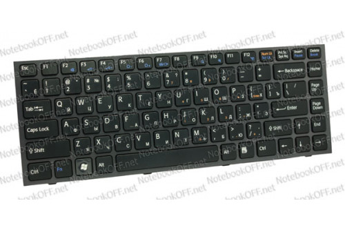 Клавиатура для ноутбука Sony VPC-S, VPCS Series (silver frame) фото №1