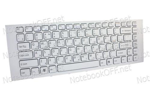 Клавиатура для ноутбука Sony VPC-EA, VPCEA Series (white frame) фото №1