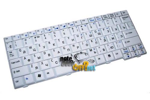 Клавиатура для ноутбука Acer Aspire One A110, A150, D250, 531 белая (аналог 00702) фото №1