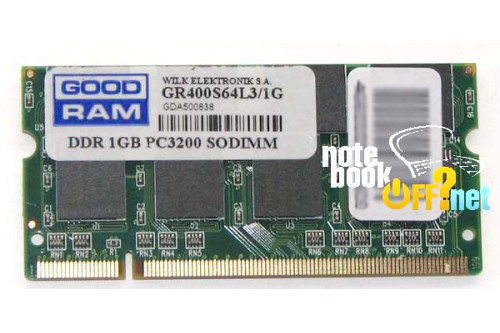 Модуль памяти для ноутбука SO DIMM DDR 1024 Mb / 1 Гб фото №1