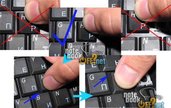 НоутбукОФФ Украина - Как вставить кнопку в ноутбук? Подробная инструкция
